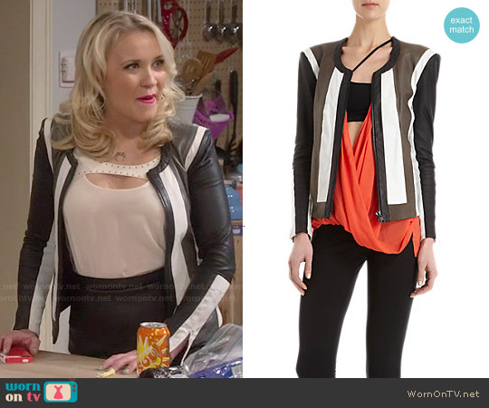 Helmut Lang Pax Jacket worn by Emily Osment on Young & Hungry
