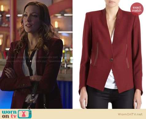 Helmut Lang Pixel Suiting Blazer worn by Katie Cassidy on Arrow