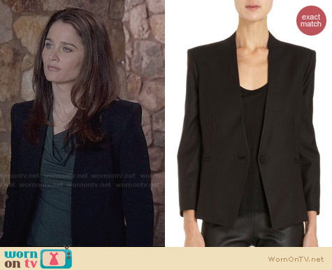 Helmut Lang Reflect Blazer worn by Robin Tunney on The Mentalist