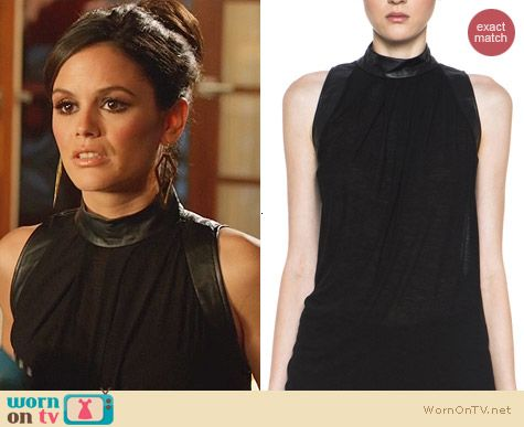 Helmut Lang Schema Jersey Turtleneck top worn by Rachel Bilson on Hart of Dixie