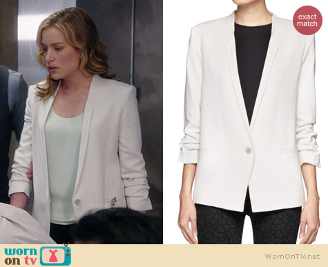 Helmut Lang Scrunched Sleeve Blazer worn by Piper Perabo on Covert Affairs