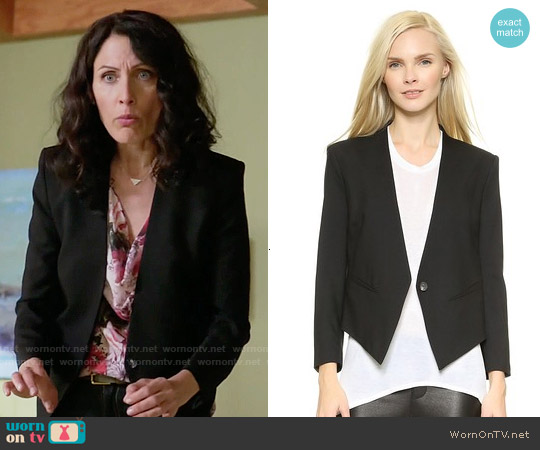 Helmut Lang Smoking Tux Blazer worn by Abby McCarthy on GG2D