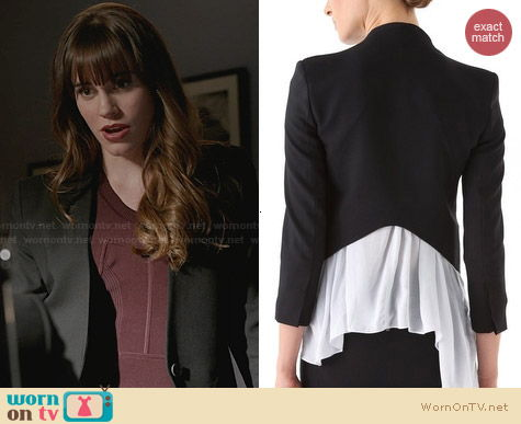 Helmut Lang Smoking Tux Blazer worn by Charlotte Grayson on Revenge
