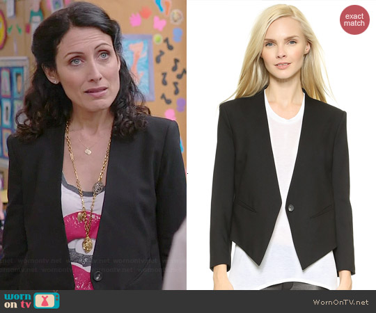 Helmut Lang Smoking Tux Blazer worn by Lisa Edelstein on GG2D