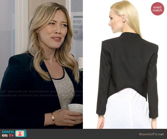 Helmut Lang Smoking Tux Blazer worn by Kelsey Peters on Younger