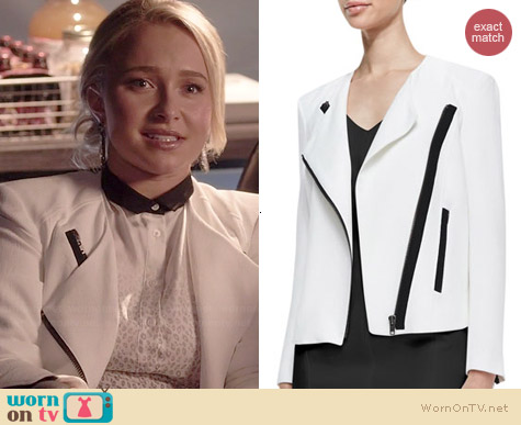 Helmut Lang White Sugar Jacket worn by Hayden Panettiere on Nashville