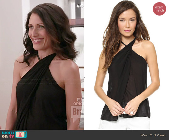 Helmut Lang Twist Neck Top worn by Lisa Edelstein on GG2D