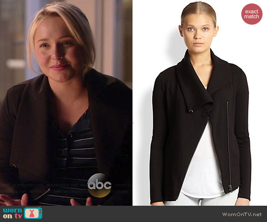 Helmut Lang Villous Jacket worn by Hayden Panettiere on Nashville