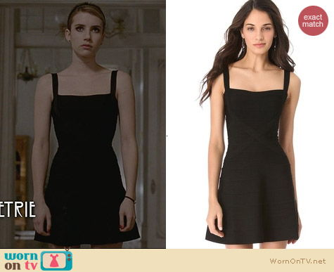 Herve Leger Crisscross A Line Dress worn by Emma Roberts on AHS Coven
