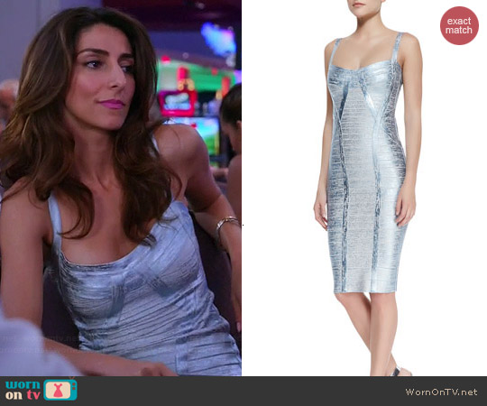 Herve Leger Judith Bandage Dress worn by Necar Zadegan on GG2D