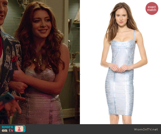 Herve Leger Judith Dress worn by Elena Satine on Revenge