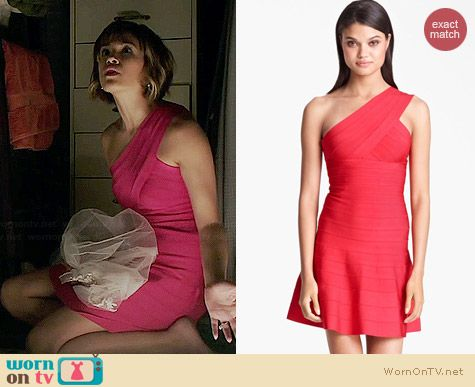 Herve Leger One Shoulder A-Line Dress worn by Nicole Gale Anderson on BATB