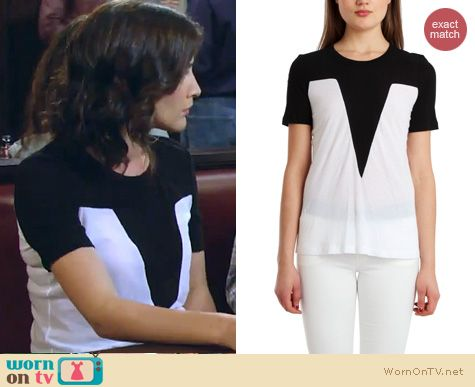 HIMYM Fashion: A.L.C. Lawton tee worn by Cobie Smulders