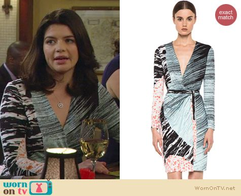HIMYM Fashion: Diane von Furstenberg Valencia dress worn by Penny from Happy Endings