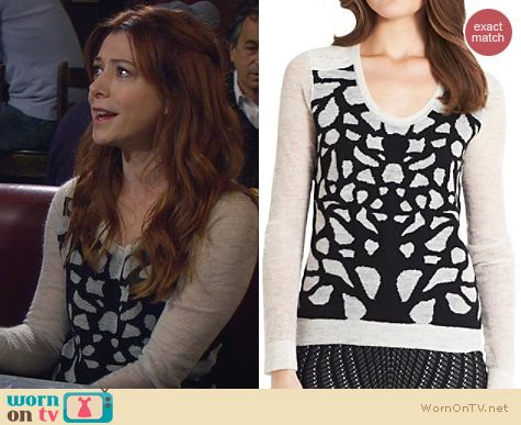 How I Met Your Mother Fashion: Diane von Furstenberg Feronia Sweater worn by Alyson Hannigan