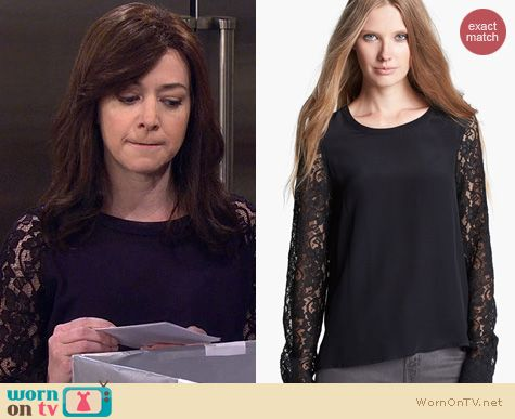 HIMYM Fashion: Diane von Furstenberg Louisa Top worn by Alyson Hannigan