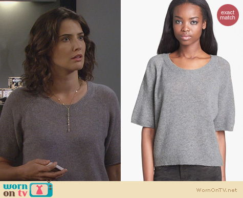 HIMYM Fashion: Enza Costa Cashmere top worn by Cobie Smulders
