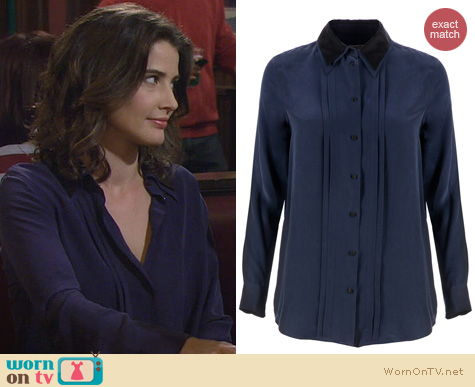 HIMYM Fashion: Equipment Pleated Shirt worn by Cobie Smulders