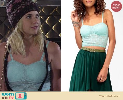 HIMYM Fashion: Forever 21 lace crop top worn by Ashley Benson