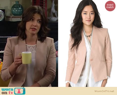HIMYM Fashion: Helmut Lang Linen twill blazer worn by Cobie Smulders