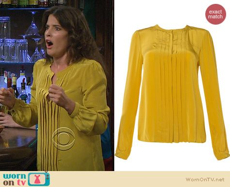 Fashion of HIMYM: Isabel Marant Sandord Blouse in Amber worn by Cobie Smulders