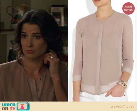 HIMYM Fashion: J Brand Juliette Blouse worn by Cobie Smulders
