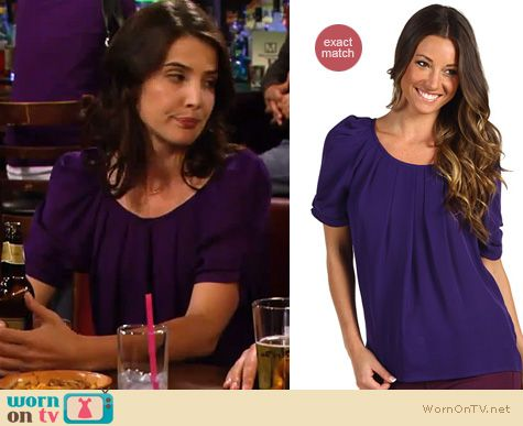 How I Met Your Mother Fashion: Joie Eleanor blouse in purple worn by Cobie Smulders
