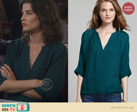HIMYM Fashion: Joie Marru Blouse in Botanical worn by Cobie Smulders
