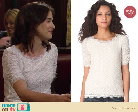 How I Met Your Mother Fashion: Joie Tullia top worn by Cobie Smulders