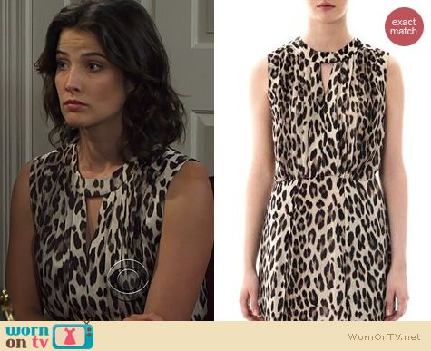 HIMYM Fashion: L'Agence Leopard print dress worn by Cobie Smulders