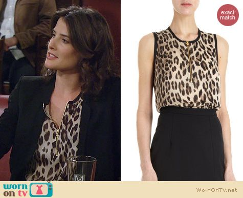 HIMYM Fashion: L'Agence leopard print blouse worn by Cobie Smulders