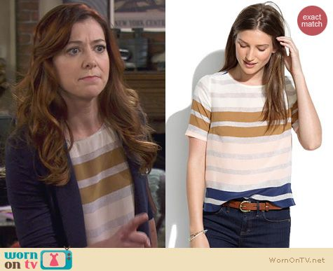 How I Met Your Mother Fashion: Madewell Hazestripe Top worn by Alyson Hannigan