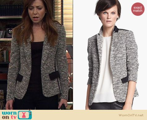 HIMYM Fashion: Rag & Bone Aviator Blazer worn by Alyson Hannigan