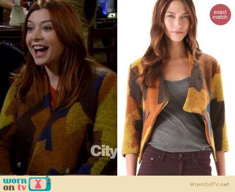 HIMYM Fashion: Thakoon Patchwork jacket worn by Alyson Hannigan