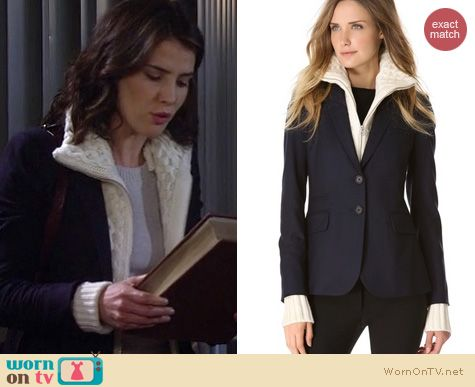 HIMYM Fashion: Veronica Beard jacket with turtleneck sweater worn by Cobie Smulders