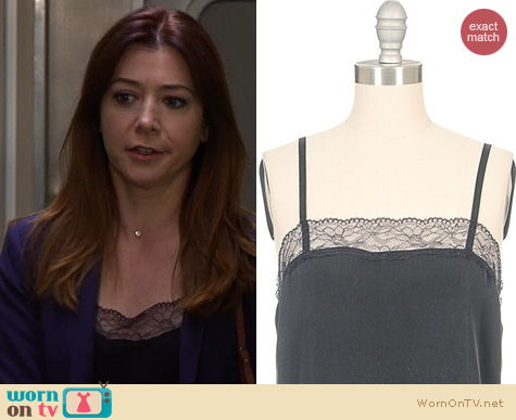 HIMYM Fashion: L'Agence French Lace Trim Cami worn by Alyson Hannigan