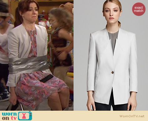 HIMYM Style: Helmut Lang Ark Suiting Blazer worn by Alyson Hannigan