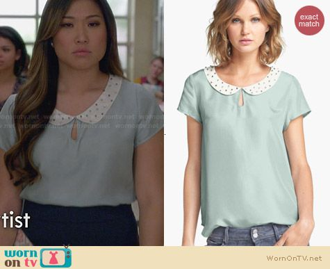 Hinge Embellished Top worn by Jenna Ushkowitz on Glee