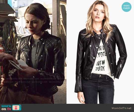 H&M Biker Jacket worn by Willa Holland on Arrow