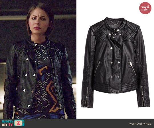 H&M Biker Jacket worn by Thea Queen on Arrow