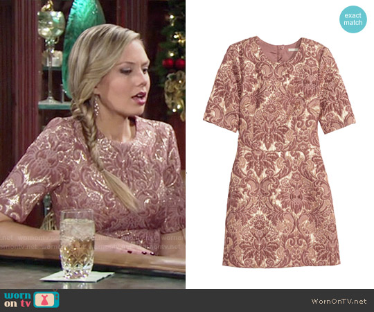 H&M Brocade Dress worn by Melissa Ordway on The Young & the Restless