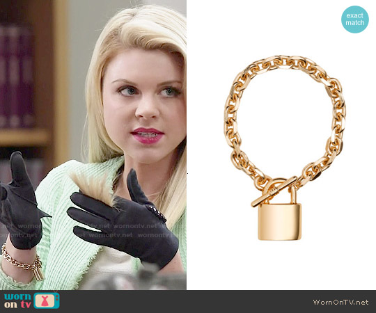 H&M Chain Bracelet worn by Lauren on Faking It