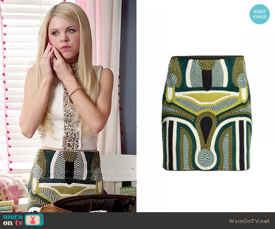 H&M Cord-embroidered Skirt worn by Lauren on Faking It