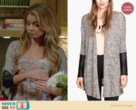 H&M Fine Knit Cardigan worn by Sarah Hyland on Modern Family