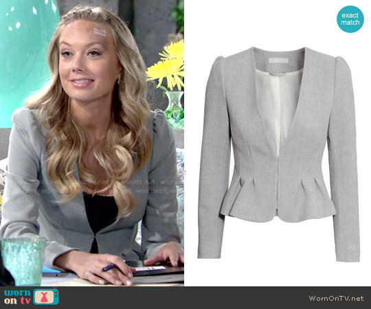 H&M Fitted Jacket worn by Melissa Ordway on The Young & the Restless