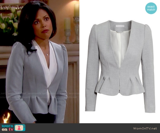 H&M Fitted Jacket worn by Karla Mosley on The Bold & the Beautiful