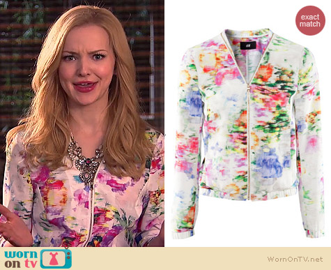 H&M Floral Jacket worn by Dove Cameron on Liv & Maddie