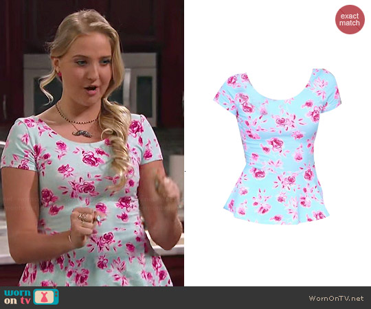 H&M Floral Peplum Top worn by Veronica Dunne on KC Undercover