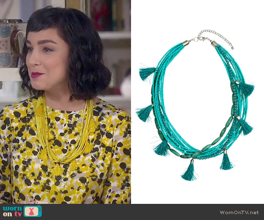 H&M Multistrand Necklace worn by Mandy Baxter on Last Man Standing