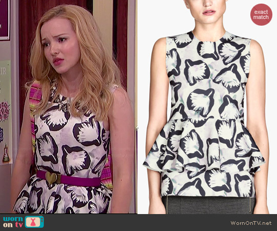 H&M Nature White Peplum Top worn by Dove Cameron on Liv & Maddie
